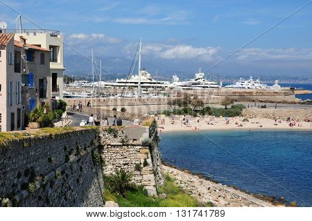 Antibes France - april 15 2016 : the seaside