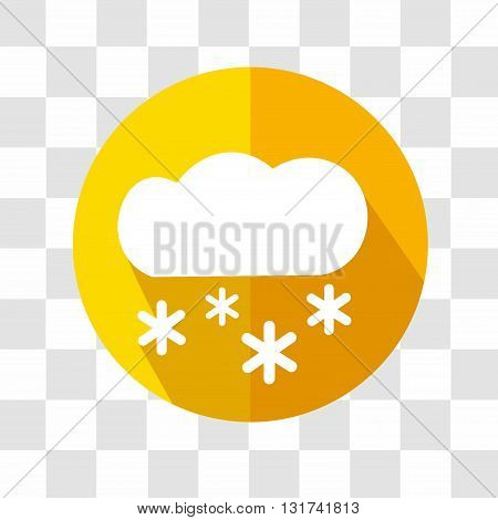 Cloud and Snow Icon. Weather Forecast. Vector Illustration.