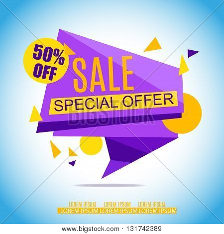 Sale Banner Design. Sale Vector Tag for Promotional brochureposteradvertising shopping flyer discountbanner.