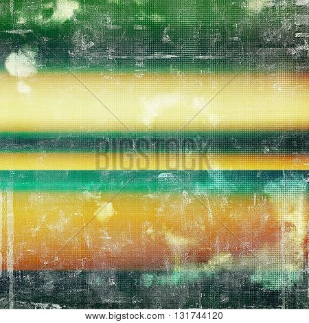 Creative grunge background in vintage style. Faded shabby texture with different color patterns: yellow (beige); brown; green; blue; red (orange); cyan