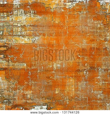 Grunge old texture used as abstract vintage style background. With different color patterns: yellow (beige); brown; red (orange); white