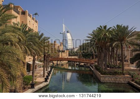 DUBAI, UAE - MAY 12, 2016:  sight of Dubai: Burj Al Arab hotel