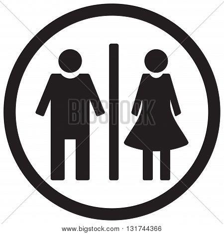 WC toilet icon. Gentleman restroom and lady bathroom. Vector illustration