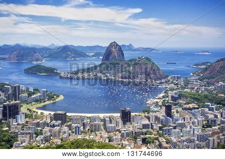 Sugar Loaf Mountain in Rio de Janeiro, Brazil.