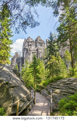 Rocks in the National park of Adrspach-Teplice rocks - Czech Republic