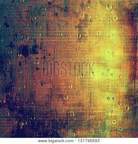 Vintage background with dirty grungy texture or overlay and different color patterns: yellow (beige); brown; green; blue; red (orange); purple (violet)