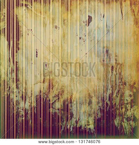 Decorative vintage texture or creative grunge background with different color patterns: yellow (beige); brown; green; red (orange); purple (violet); pink