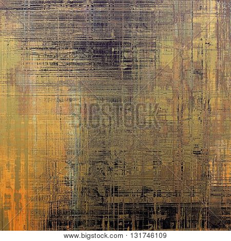 Weathered grunge elements on vintage texture for your design. Aged background with different color patterns: yellow (beige); brown; gray; green; black