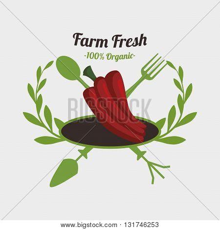 Farm Fresh concept with icon design, vector illustration 10 eps graphic.