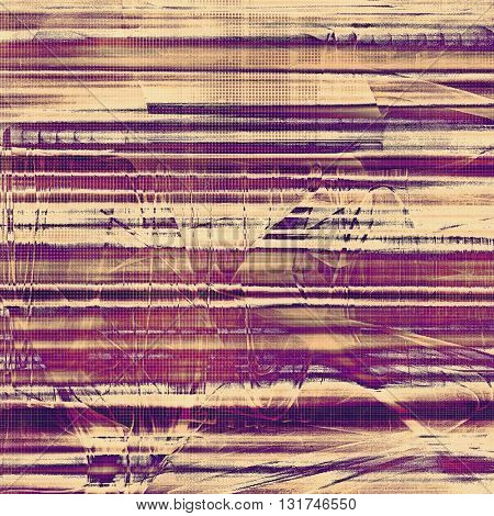 Grunge abstract textured background, aged backdrop with different color patterns: yellow (beige); brown; gray; purple (violet); pink