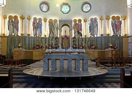 ZAGREB, CROATIA - JANUARY 31: Church of Saint Blaise in Zagreb, Croatia on January 31, 2015