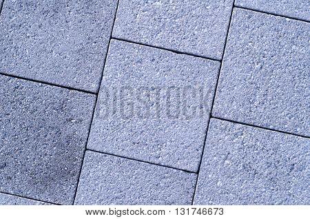 Paving stones along Harborwalk in South Boston Massachusetts