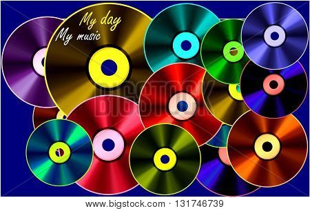 Today my day - my music The painting depicts music days, among those one of my day as a day of success. Music as my music.