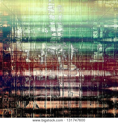 Grunge background or texture with vintage frame design and different color patterns: yellow (beige); brown; green; blue; purple (violet); black