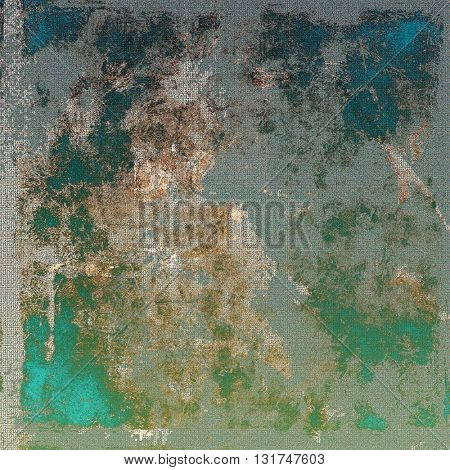 Old school background or texture with vintage style grunge elements and different color patterns: yellow (beige); brown; gray; green; blue; cyan