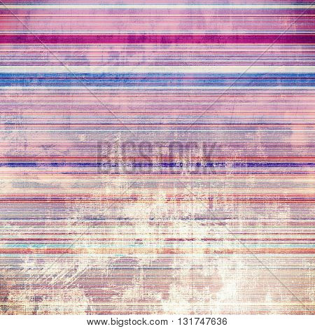 Colorful grunge texture or background with vintage style elements and different color patterns: yellow (beige); blue; red (orange); purple (violet); pink