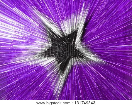 SPEED EFFECT , BLURRY STAR ON PURPLE BACKGROUND