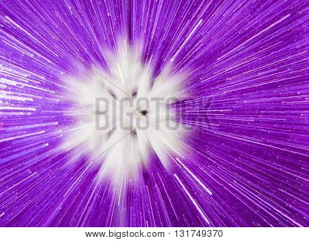 SPEED EFFECT , BLURRY SNOW FLAKE ON PURPLE  BACKGROUND