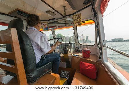 Boat Driver For Travel On The Chao Phraya River