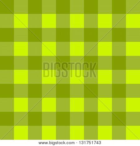 Sample pretty seamless bright green checkered fabric.