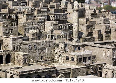 ISTANBUL, TURKEY - 4 APRIL, 2016: Miniaturk in Istanbul, Turkey. Miniature copies of the Ancient World Architecture