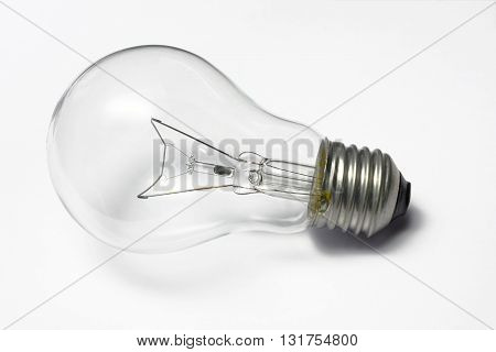 electronic incandescent lamp light bulb isolated on white background