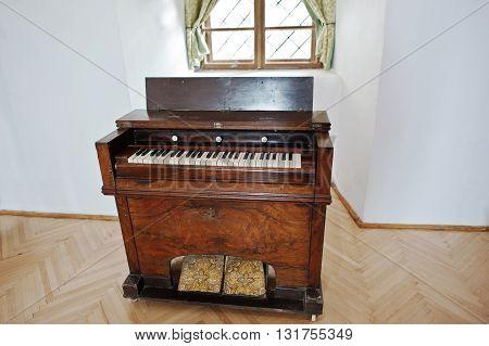 Mukachevo,ukraine - April 11,2016: Old Vintage Piano And Organ