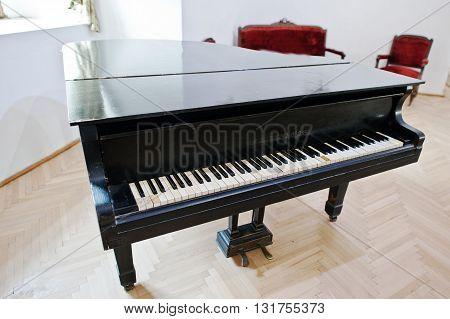 Mukachevo,ukraine - April 11,2016: Antique Lauberger & Gloss Piano