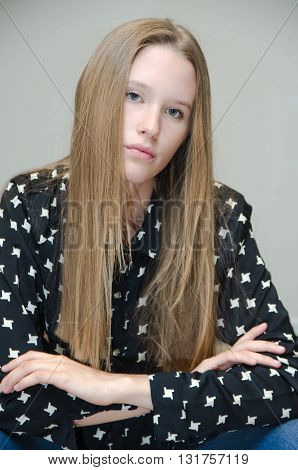 Young Woman Fashion Model