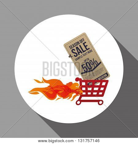 Sale concept with icon design, vector illustration 10 eps graphic.