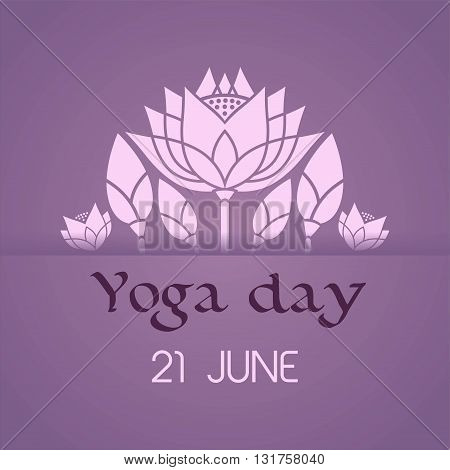 lotus decorative emblem International Day of Yoga