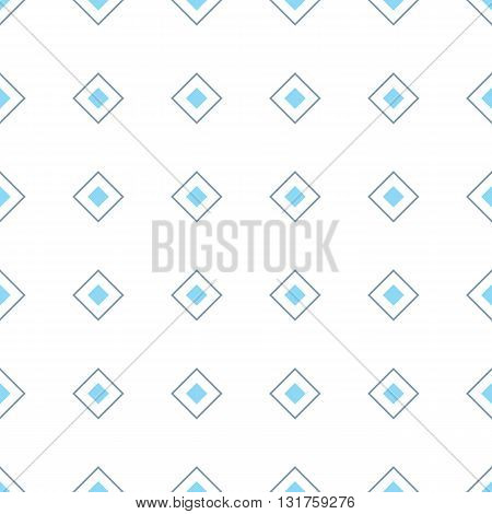 Geometric seamless pattern with rhombuses. Colored rhombuses on white background. Vector illustration in EPS8 format pattern swatch included.