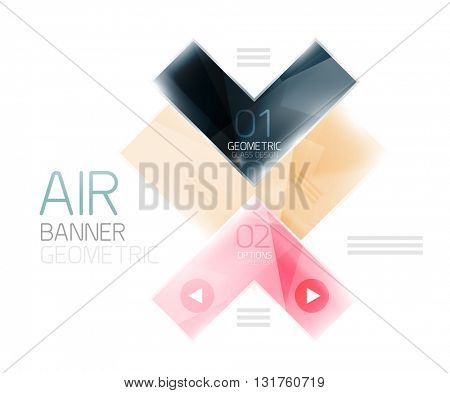 Glossy color realistic arrows. Universal business infographic