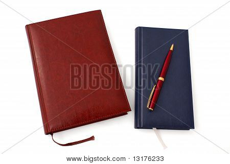 Two Notebooks With Ballpen