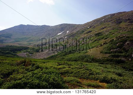 Rollins Pass scenery in Colorado Mountains Backcountry