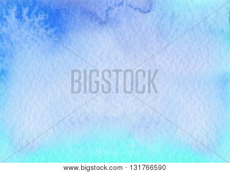 abstract blue wet rough textures watercolor artistic background