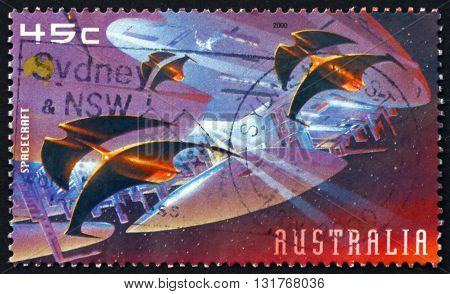 AUSTRALIA - CIRCA 2000: a stamp printed in Australia shows Spacecraft Mars Exploration circa 2000