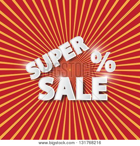 Sale poster with percent discount . vector illustration.