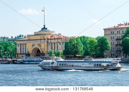 Boat On Neva River