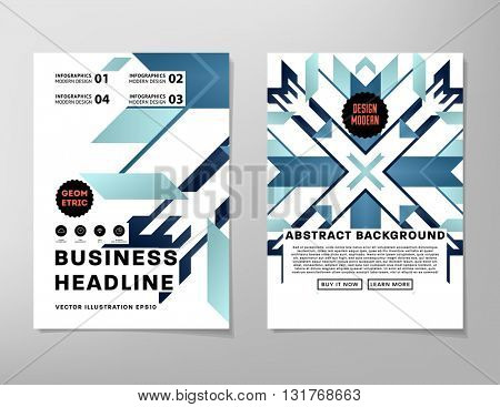 Abstract Geometric Background. Geometric Shapes and Frames for Presentation, Annual Reports, Flyers, Brochures, Leaflets, Posters, Business Cards and Document Cover Pages Design. A4 Title Template.