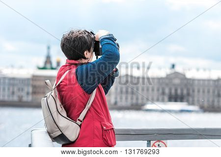 Tourist Woman In Peter And Paul Fortress