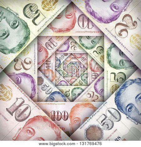 Singapore Dollar Background
