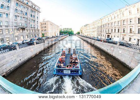 Boat On Kryukov Canal