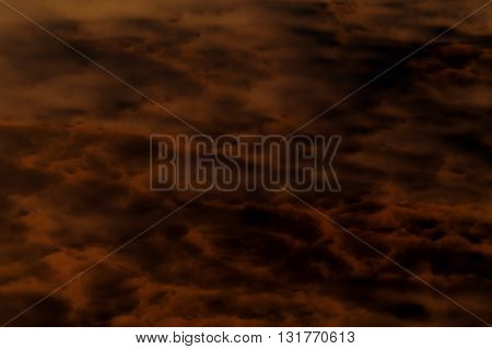 The abstract pattern and fog of dark clouds.
