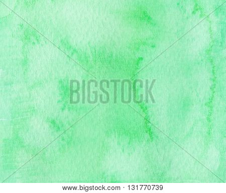 green watercolor abstract textures flat paint background