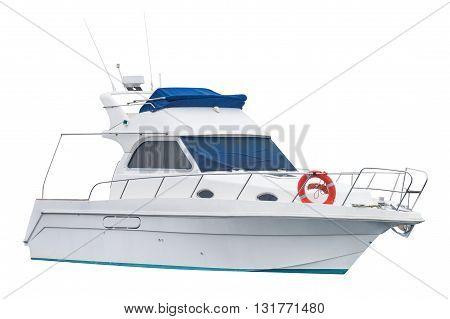 image of motor boat Isolated on white background