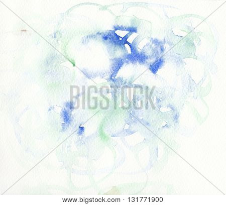 blue green faded rough textures abstract watercolor background