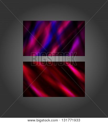 Colorful abstract design in a stained-glass style in 3.5x2-in business card size.