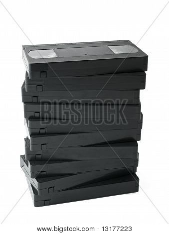 Pile Of Videocassettes