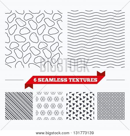 Diagonal lines, waves and geometry design. Stone tiles lines texture. Stripped geometric seamless pattern. Modern repeating stylish texture. Material patterns.